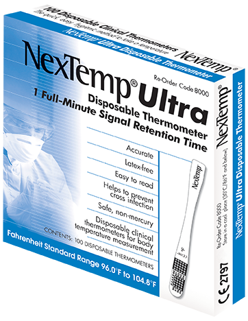 NexTemp Ultra Disposable Thermometer 100 Pack 8000-10