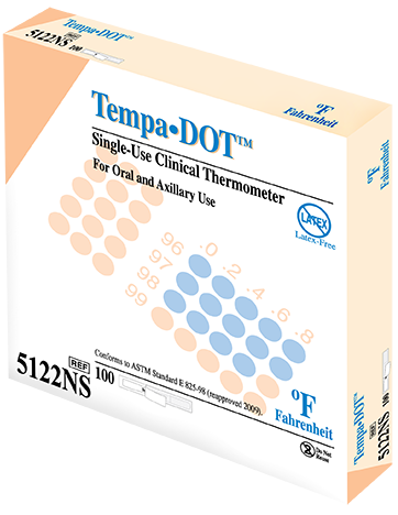 TempaDOT Disposable Thermometers 5122NS
