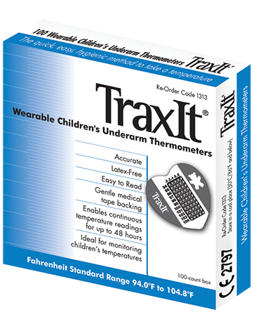 TraxIt Disposable Thermometers 100 Pack 1313-10